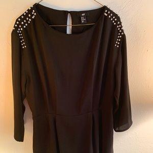 Black H&M diamond detail dress